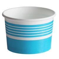 Choice 4 oz. Blue Paper Frozen Yogurt / Food Cup - 50/Pack