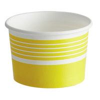 Choice 4 oz. Yellow Paper Frozen Yogurt / Food Cup - 50/Pack