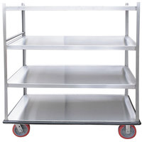 Winholt BNQT-4-SS Queen Mary Stainless Steel Banquet Service Cart with 4 Shelves