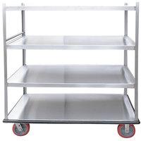 Winholt BNQT-4 Queen Mary Aluminum Banquet Service Cart with 4 Shelves