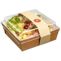 Solia ES32375 Medium 30.3 oz. Kraft Salad Container with Clear Plastic Lid - 250/Case
