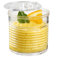 Solia PS34500 2 oz. Clear Plastic Tin Can with Lid - 200/Case