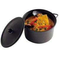 Solia PS30395 22 oz. Black Plastic Cooking Pot with Lid   - 100/Case