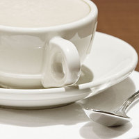 Homer Laughlin 28210000 6 inch Ivory (American White) Rolled Edge China Saucer - 36/Case