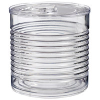Solia PS34510 3.7 oz. Clear Plastic Tin Can with Lid - 200/Case