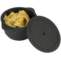 Solia PS39000 11.8 oz. Black Plastic Cooking Pot with Lid   - 100/Case