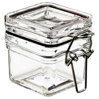 Solia BU60200 Tradition Square 2 oz. Clear Plastic Jar - 240/Case
