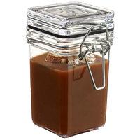 Solia BU60210 Tradition Square 3.7 oz. Clear Plastic Jar - 240/Case