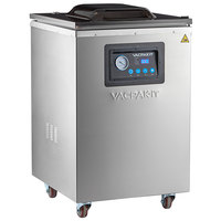 VacPak-It VMC20FGF Floor Model Chamber Vacuum Packaging Machine with (2) 20 inch Seal Bars and Gas Flush Option