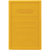 Cambro EPP180LID361 Cam GoBox® Full Size Top Loader Replacement Yellow Lid