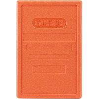 Cambro EPP180LID363 Cam GoBox® Full Size Top Loader Replacement Orange Lid