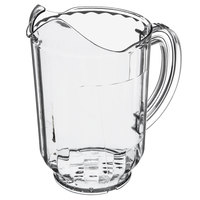 Carlisle 554407 Versapour 60 oz. Customizable Clear Polycarbonate Pitcher with Window