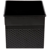 American Metalcraft BEVB556 1/6 Size Black Square Hammered Beverage Tub - 6 1/4 inch x 5 3/4 inch x 5 3/4 inch