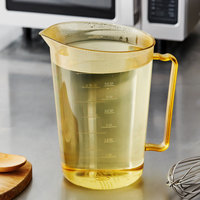 Cambro 400MCH150 4 Qt. High Heat Amber Measuring Cup