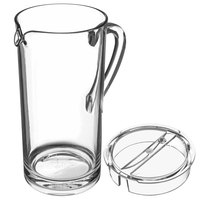 Carlisle Elan 58 oz. Clear Polycarbonate Pitcher with Pour Lip and Lid
