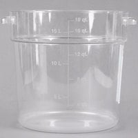 Carlisle 1076807 18 Qt. Clear Round StorPlus Container