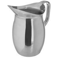 Carlisle 609270 2 Qt. 18/8 Mirror Polish Stainless Steel Bell Pitcher with Handle