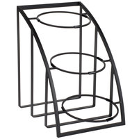 Cal-Mil 1712-10-13 Mission 10 inch Black Round Bowl Display Stand - 12 inch x 19 inch x 17 1/2 inch