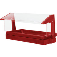 Cambro BBR480158 48 inch x 24 inch x 25 inch Red Buffet / Salad Bar with Free Standing Sneeze Guard