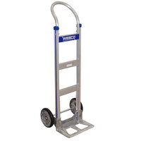 Wesco Industrial Products 220370 Cobra-Lite Series 410 600 lb. Aluminum Hand Truck with 10 inch Solid Rubber Wheels and 14 inch Nose Plate