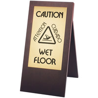 Cal-Mil 852-52 Dark Wood WET FLOOR Sign
