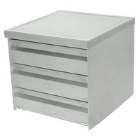 Advance Tabco ADT-3-2015 3 Tier Drawer Assembly with Side Panels - 20 inch x 15 inch x 5 inch Drawers