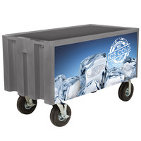 IRP Gray Extra Large Super Arctic 080 Mobile 456 Qt. Cooler with Wheels