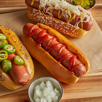 Berks 5 lb. 4/1 Size 7 inch Beef Franks - 2/Case