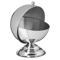 Carlisle 609132 14 oz. 18/8 Mirror Polish Stainless Steel Roll-Top Covered Snack Dish