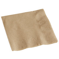 Hoffmaster 126378 10 inch x 10 inch 1-Ply Coin Embossed Natural Beverage / Cocktail Napkin - 250/Pack