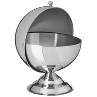 Carlisle 609133 30 oz. 18/8 Mirror Polish Stainless Steel Roll-Top Covered Snack Dish