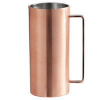 GET MM-160-BCPR/SS 51 oz. Brushed Double Wall Copper Pitcher