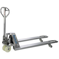 Wesco Industrial Products 272152 5500 lb. Stainless Steel Pallet Truck with 27 inch x 48 inch Fork