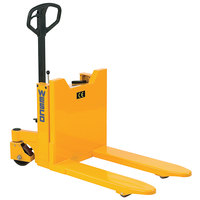 Wesco Industrial Products 272950 Ergonomic Pallet Truck with 90 Degree Tilting 21 1/2 inch x 31 inch Forks - 2200 lb. Capacity