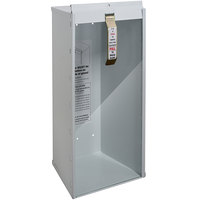 Buddy Products 8018-9 White Surface-Mounted Fire Extinguisher Cabinet for 5 lb. Fire Extinguishers