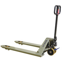 Wesco Industrial Products 272861 Deluxe Quick Lift Pallet Truck with 27 inch x 48 inch Forks - 5500 lb. Standard / 300 lb. Quick Lift Capacity