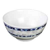 Thunder Group 5206DL Blue Dragon 25 oz. Round Melamine Rice Bowl - 12/Case