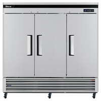 Turbo Air TSF-72SD Super Deluxe 82 inch Solid Door Reach In Freezer