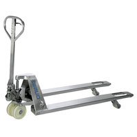 Wesco Industrial Products 272855 Galvanized Pallet Truck with 27 inch x 48 inch Forks - 5500 lb. Capacity