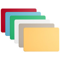 Tomlinson Chef's Edge 18 inch x 12 inch x 1/2 inch 6-Board Color-Coded Cutting Board System