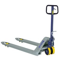 Wesco Industrial Products 272766 Deluxe Foot Pump Pallet Truck with 27 inch x 48 inch Forks - 5500 lb. Capacity