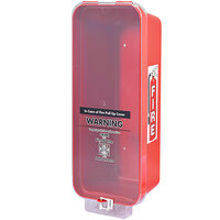 Cato 95151 Warrior Red Surface-Mounted Fire Extinguisher Cabinet with Clear Pull-Cover for 10 lb. Fire Extinguishers