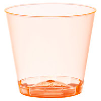 Fineline Quenchers 401-ORG 1 oz. Neon Orange Hard Plastic Shot Cup - 2500/Case