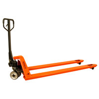 Wesco Industrial Products 273586 Long Fork Pallet Truck with 27 inch x 98 inch Forks - 3300 lb. Capacity