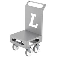 Lakeside 155048 Sprinter 23 1/2 inch x 20 1/4 inch Stainless Steel Compact Platform Cart