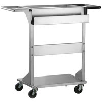 Lakeside 145 Mise En Place Stainless Steel Chef's Ingredient Staging Cart with 3 1/2 inch Casters