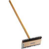 Carlisle 4002600 Sparta Broiler Master Grill Brush with 30 1/2 inch Wooden Handle and Scraper