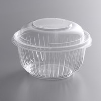 Dart C16BCD PresentaBowls 16 oz. Clear OPS Plastic Bowl with Dome Lid - 252/Case