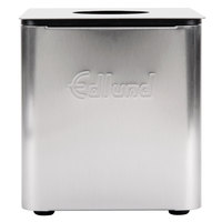 Edlund CSR-016B Stainless Steel 1/6 Size Cold Food Pan with Black Insert, Lid, and Lid Hole