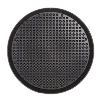 HS Inc. HS1032 16 inch Charcoal Polypropylene Pizza Pleezer Pizza Tray - 12/Case
